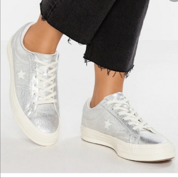 Converse One Star Silver Sneakers